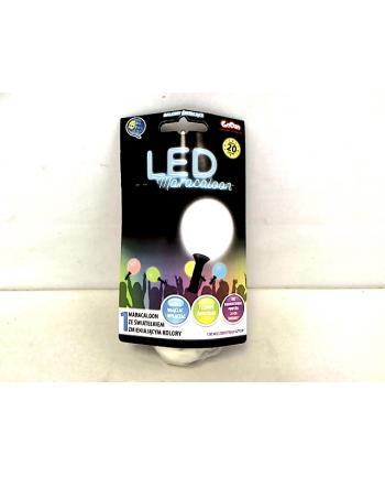 Maracaloon balon biały dioda LED tęczowa MLED-1B1
