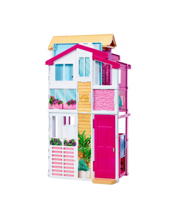 Barbie miejski domek z wyposażeniem 3-poziom DLY32