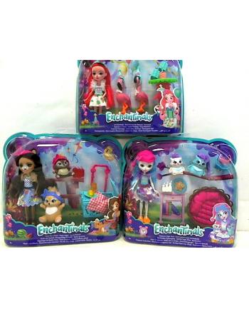 Barbie Enchantimals lalka + zwierzątka FCC62 /6 / Matell