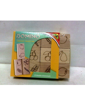 Domino drewniane - owoce i warzywa 02315