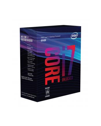 Procesor Intel Intel® Core™ i7-8700K (12M Cache  3.7 / 4.7 GHz) I7-8700K BX80684I78700K 961566 ( 3700 MHz (min) ; 4700 MHz (max) ; LGA 1151 ; BOX )