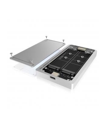 RaidSonic IcyBox Obudowa Zewnętrzna RAID na dyski 2x M.2 Sata SSD, USB 3.1 Type-C