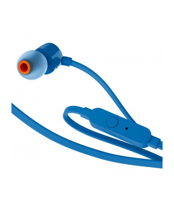 Słuchawki douszne z mikrofonem JBL T110 (niebieskie)