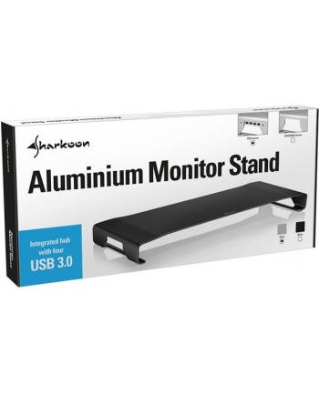 Sharkoon Aluminium Monitor Stand PRO 4x USB 3.0 - black