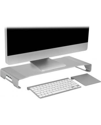 Sharkoon Aluminium Monitor Stand PRO 3x USB 3.0 - silver