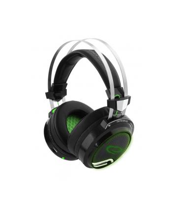 Słuchawki z mikrofonem Esperanza ''Bloodhunter'' Gaming czarno-zielone