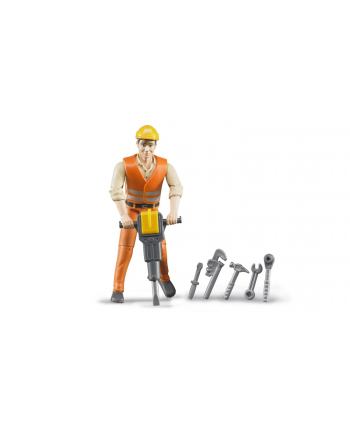 Bruder bworld Construction worker with accessories (60020)