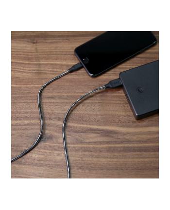 CB-AL2 Black nylonowy szybki kabel Quick Charge Lightning-USB | 2m | certyfikat MFi Apple
