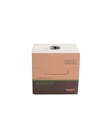 Kabel teleinformatyczny, instalacyjny, U/UTP kat.5e 4x2xAWG24/1, drut, miedziany, PVC, 305m, szary