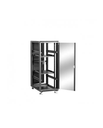Szafa stojąca 19 32U 600x1000mm                        (drzwi szklane, 4xwent., 2xpolka, 1xlistwa) NCB32-610-BAA-C