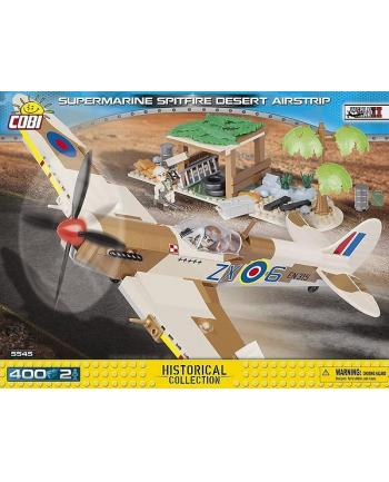 COBI 5545 Small Army Supermarine Spitfire Mk.IX Desert Airstrip