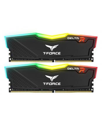 TEAMGROUP DIMM DDR4 16GB 2666MHz, CL15, (KIT 2x8GB), TEAM T-FORCE Delta RGB (Black)