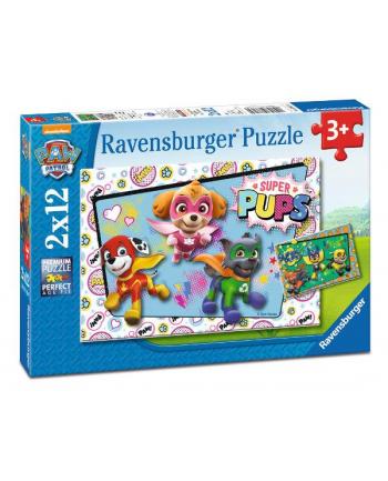 Puzzle 2x12el Psi Patrol Super Pups 076130 RAVENSBURGER