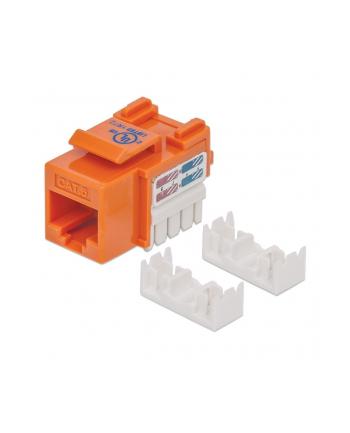 intellinet Moduł Keystone Cat6 UTP RJ45 zaciskany pomarańczowy