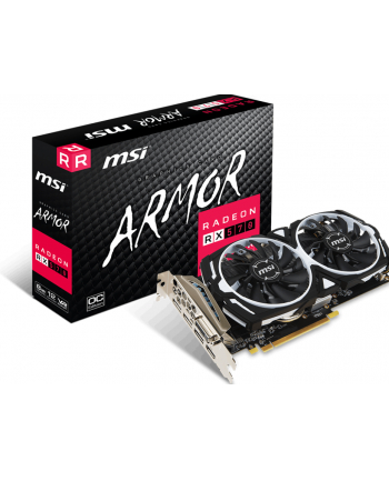 msi Radeon RX 570 ARMOR 8GB OC 256BIT HDMI/DVI-D/3DP