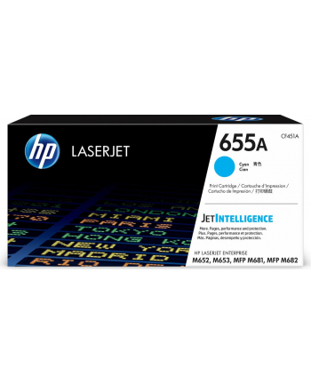 hp inc. 655A Cyan Toner Cartridge CF451A
