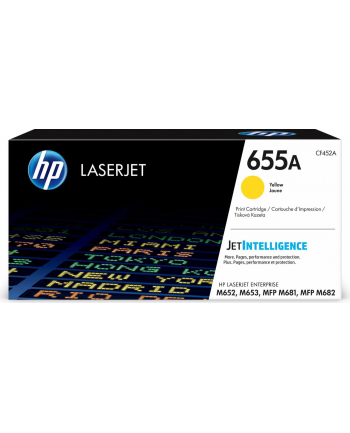 hp inc. 655A Żółty Toner Cartridge CF452A