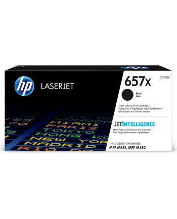 hp inc. 657X Czarny Toner Cartridge CF470X
