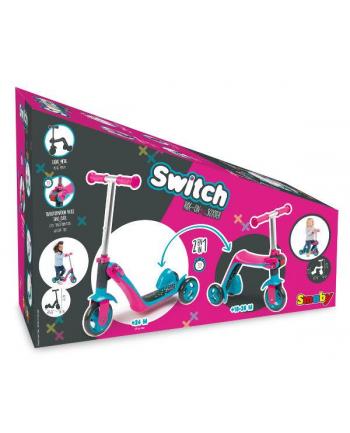 Hulajnoga 2w1 różowa Switch 750603 SMOBY