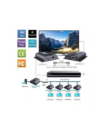 techly Odbiornik extendera HDMI HDbitT po skrętce Cat6/6a/7   (P/N: 025466)