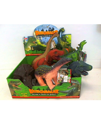 hipo Dinozaur z dźwiękiem 37cm 6szt/disp HLH29