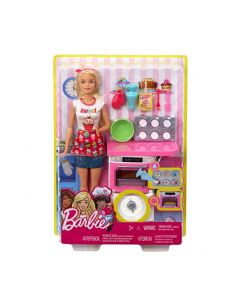mattel Barbie Domowe wypieki zestaw + lalka FHP57 /4