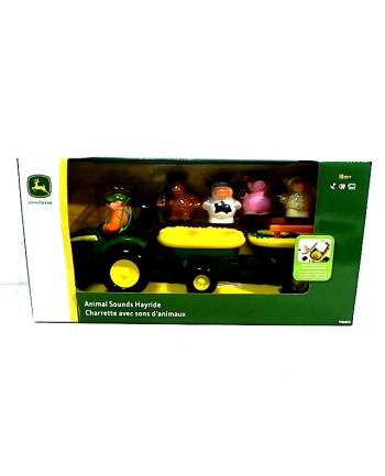 TOMY dźwiękowy traktor ze zwierzątkami 34908