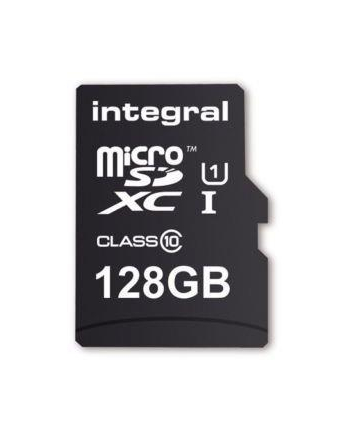 Integral 128GB micro SDHC SDXC Cards C10 - Ultima Pro X+ADAPTER
