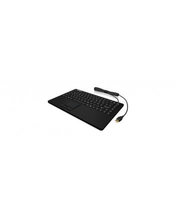 RaidSonic IcyBox KeySonic mini klawiatura wodoodporna, touchpad, przemysłowa IP68, Czarna