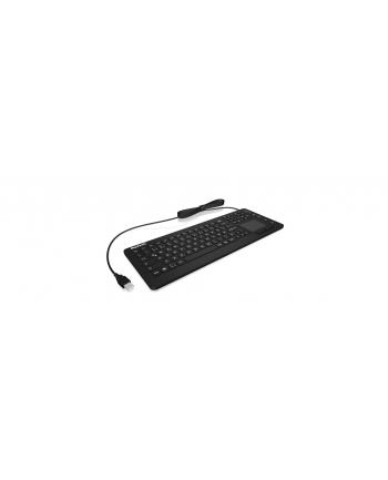 RaidSonic IcyBox KeySonic klawiatura wodoodporna, touchpad, USB, przemysłowa IP68, Czarna