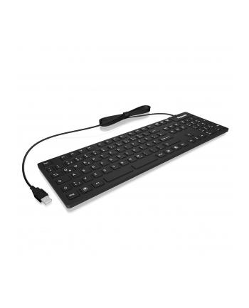 RaidSonic IcyBox KeySonic klawiatura wodoodporna, USB 2.0, przemysłowa IP68, Czarna