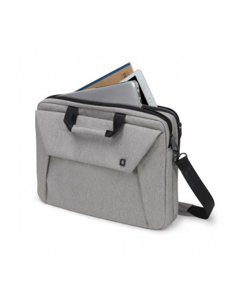 Dicota Slim Case Plus Edge 12 - 13.3 light grey szara torba na notebook