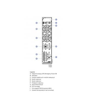 socomec UPS NETYS RT 5000VA/4500W LCD/EPO/T/R/zaciski NRT2-5000K