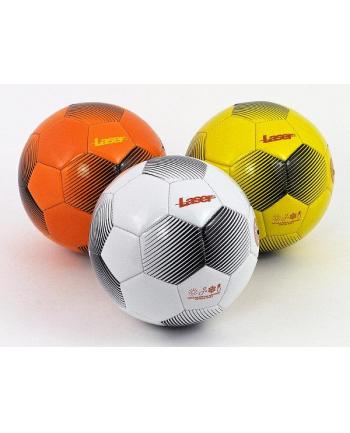 Piłka nożna Laser biało-czarna 428744 ADAR