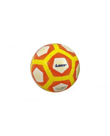 Piłka nożna Laser biało-żółto-pomarańcz. 428775 ADAR