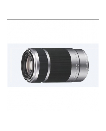 Sony SEL-55210 E55-210mm F4.5-6.3 telephoto zoom lens, 3.8x zoom, Optical SteadyShot, Silver