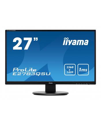 Monitor 27'' IIYAMA E2783QSU 1ms WQHD 2560x1440 USB DP HDMI DVI LS