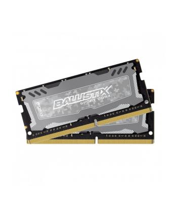 ballistix DDR4 SODIMM Sport LT 16GB(2*8GB)/1600 CL16 SRx8 Szara