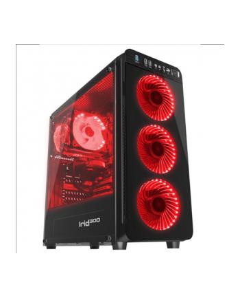 natec Obudowa Genesis Irid 300 USB 3.0 z oknem czerwone podświetlenie