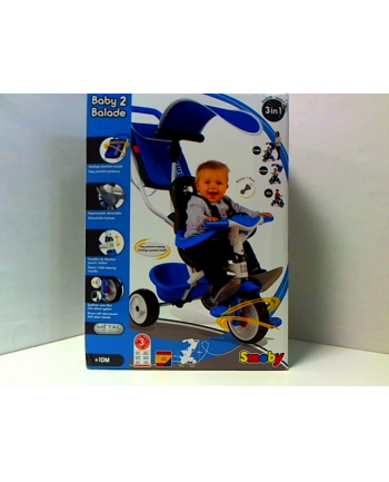 Rowerek trójkołowy BABY BALADE niebieski SMOBY