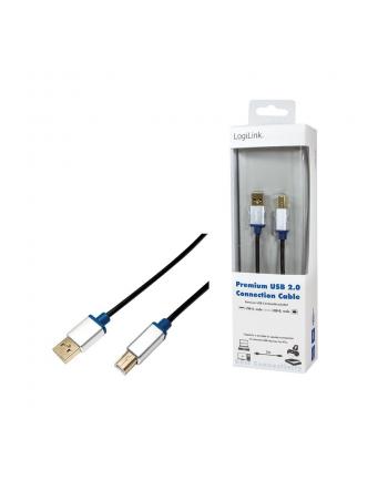 logilink Kabel Premium USB2.0 A/B, długość 2m