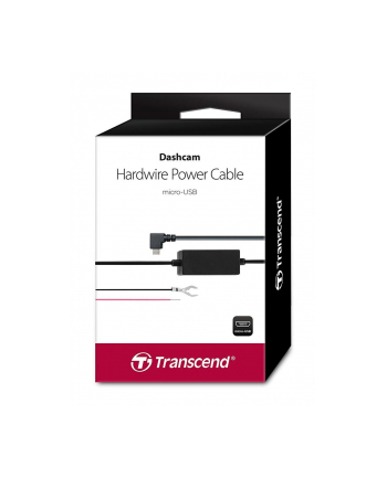 Transcend Dashcam hardwire kit power adapter for DrivePro, Micro-USB Type B