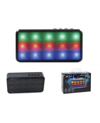 Vakoss X-ZERO Bezprzewodowy Głośnik Bluetooth X-S1837BK  3W, Kolorowe Podświetlenie