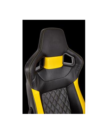 Corsair Fotel Gamingowy T1 RACE 2018, Czarny/Żółty