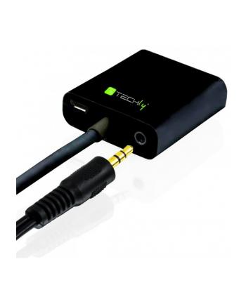 techly Konwerter HDMI męski na VGA żeński audio micro-USB