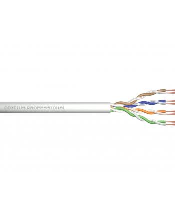 digitus Kabel teleinformatyczny, patchcordowy, U/UTP kat.5e 4x2xAWG24/7, linka, miedziany, PVC, 100m, szary