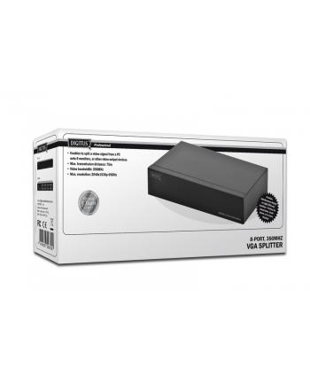 assmann Rozdzielacz/Splitter VGA 8-portowy, 350MHz 1920x1080p FHD