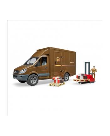 MB Sprinter kurier UPS z figurką i podnośnikiem 02538 BRUDER
