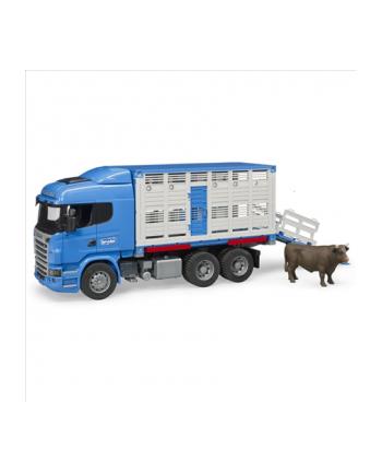 Scania R z kontenerem i figurką wołu 03549 BRUDER
