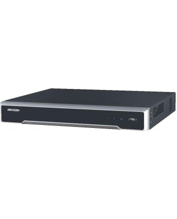 Rejestrator NVR z Wi-Fi Hikvision DS-7616NI-I2/16P nagrywanie w rozdz. 12MP; obsługa do 16 kamer IP; wyjście wideo HDMI; VGA; 1 USB 2.0; 1 USB 3.0; 2 SATA; 1 Ethernet RJ45; wejście/wyjście alarmowe: 4/1; 16 portów PoE